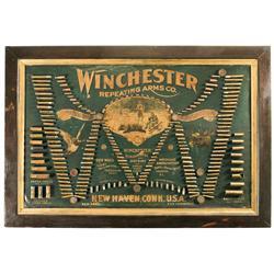 Scarce Winchester Double W Cartridge Display Board