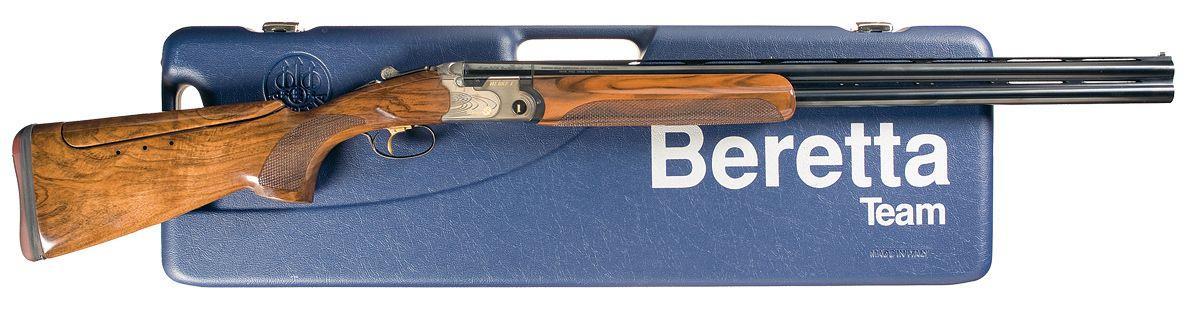 Image 1 Beretta Model 682 Gold E Trap Over Under Shotgun With Case And