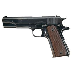 Rare WWII Singer Manufacturing Company Model 1911A1 Semi-Automatic Pistol with History