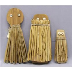 3 Pomo Indian Dolls by Julia Parker