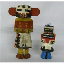 2 Vintage Hopi Kachina Dolls