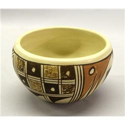 Hopi Pottery Bowl By B. Polacca