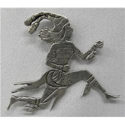 Navajo Sterling Silver Clown Pin