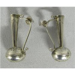 Sterling Silver Pulled Spout Pitcher Earrings