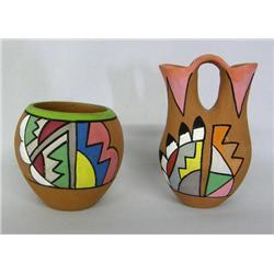 2 1960s Tesuque Jemez Curio Pottery