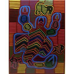 San Blas Island Mola Art of  A Scorpion