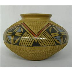 Mata Ortiz Polychrome Bowl by Jesus Tena Incised