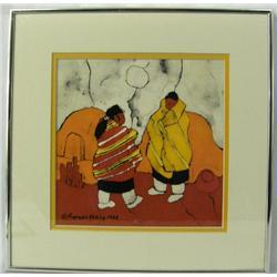 1980 Original Batik Painting Signed