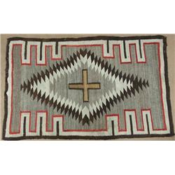 1940s Navajo Cross Directional Weaving Rug