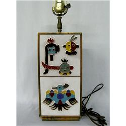 Apache Gan Dancer Copper/Tile Lamp
