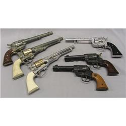 6 Vintage Toy Cowboy Pistols
