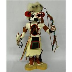 Hopi White Bear Kachina by R. Masawiestewa Sr