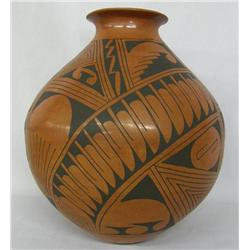 Mata Ortiz Black on Red Pottery Jar by M Bugarini