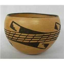 1960s Hopi Traditional Pottery Bowl by Corinne Ami