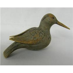 Antique Carved Wood Shorebird Decoy