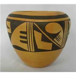 1960s Hopi Traditional Pottery Jar by C Ami