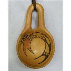 1960s Hopi Traditional Pottery Ladle by C V Ami