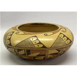 1950s Vintage Hopi Polychrome Bowl By Rosetta Huma