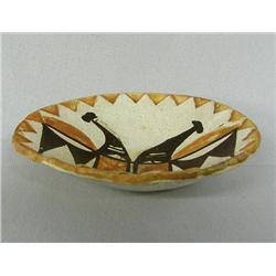 1960s Acoma Pottery Zia Bird Plate