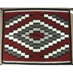 Vintage Navajo Ganado Red Rug By Lola Bekay