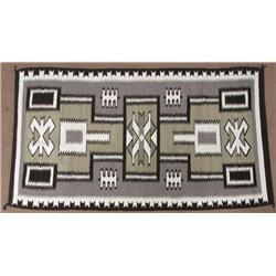Vintage Navajo Storm Pattern Rug