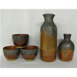 5 Pottery Jars, Bowls by Simon Sotelo III