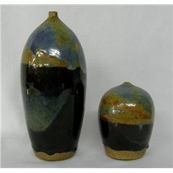 2 Pottery Vases by Simon Sotelo III