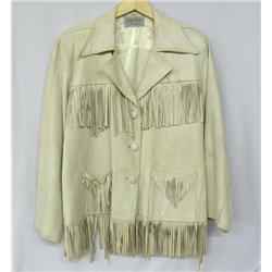 Vintage Piorneerware Ladies Leather Fringe Jacket