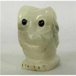 Zuni Carved Quartz Owl Fetish