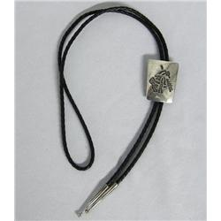 Hopi Silver ''End of Day''  Bolo Tie Hallmarked