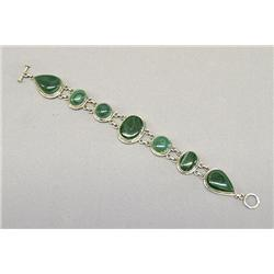 Western Silver & Richolite Link Bracelet