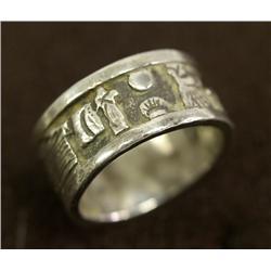 Navajo Silver Storyteller Ring Hallmark LB