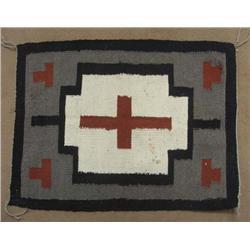 Vintage Navajo Textile Cross Design