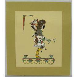 Navajo Signed Print By J.D. RoyBal