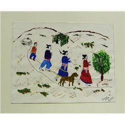 1993 Navajo Original Painting By Karina Watson