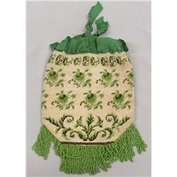 Antique Victorian Beaded Ladies Evening Bag