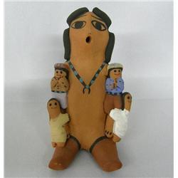 Navajo Storyteller Pottery By Eva Betoni
