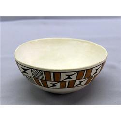 Vintage Acoma Pottery Bowl By Tena Garcia