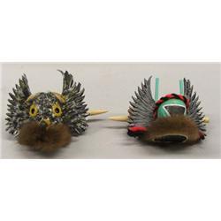 2 Hopi Mask Kachina Barrettes