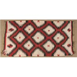 Vintage Navajo Serrated Diamond Rug