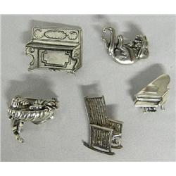 5 Sterling Silver Pins