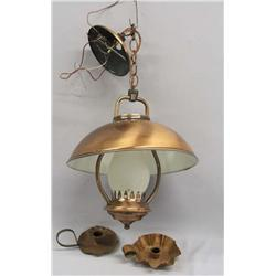 Copper Lamp & 2 Copper Candlestick Holders