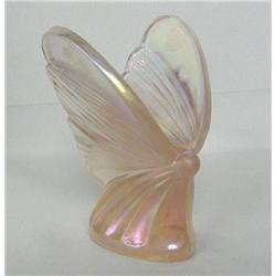 Fenton Art Glass 95th Anniverary Pink Butterfly