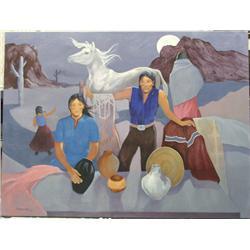 1965 Navajo Original Painting by P Amerson