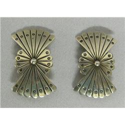 Navajo Sterling Silver Butterfly Clip On Earrings