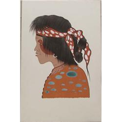 Cherokee Original Painting By Woody Big Bow