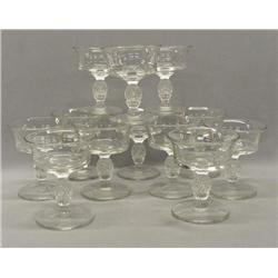 12 Heisey Plantation Glasses Sherbets