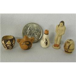 5 Native American Miniature Pottery