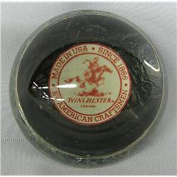 Vintage Winchester Glass Paperweight
