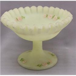 Fenton Frosted Pedestal Dish